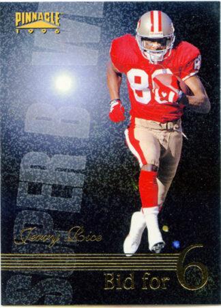 Jerry Rice 1996 Pinnacle Super Bowl Bid for 6 #190