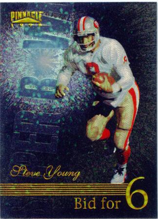 Steve Young 1996 Pinnacle Super Bowl Bid for 6 #189