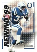Edgerrin James 2000 Fleer IMPACT REWIND 99 #36 Football Card