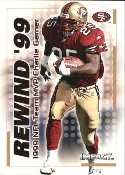 Charlie Garner 2000 Fleer IMPACT REWIND 99 #26 Football Card
