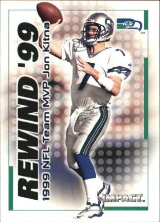 Jon Kitna 2000 Fleer IMPACT REWIND 99 #27 Football Card