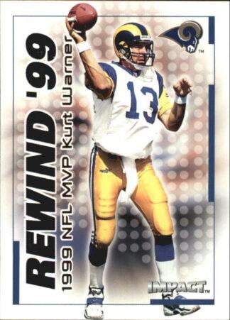 Kurt Warner 2000 Fleer IMPACT REWIND 99 #28 Football Card