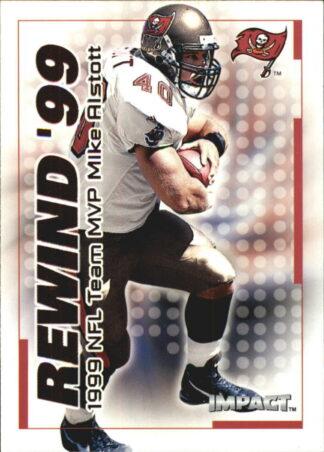 Mike Alstott 2000 Fleer IMPACT REWIND 99 #29 Football Card
