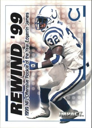 Edgerrin James 2000 Fleer IMPACT REWIND 99 #33 Football Card