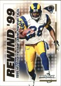 Marshall Faulk 2000 Fleer IMPACT REWIND 99 #35 Football Card