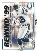 Marvin Harrison 2000 Fleer IMPACT REWIND 99 #37 Football Card