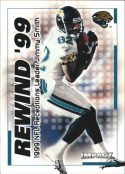 Jimmy Smith 2000 Fleer IMPACT REWIND 99 #38 Football Card