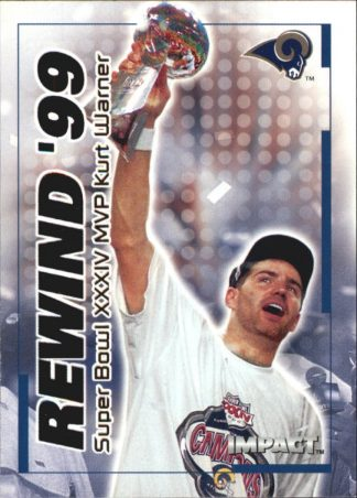 Kurt Warner 2000 Fleer IMPACT REWIND 99 #40 Football Card