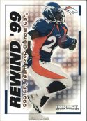 ORLANDIS GARY 2000 Fleer IMPACT REWIND 99 #10 Football Card