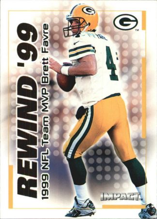 BRETT FAVRE 2000 Fleer IMPACT REWIND 99 #12 Football Card