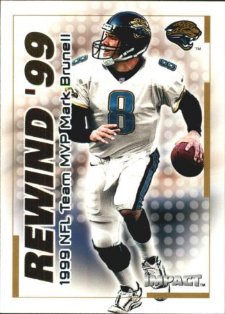 MARK BRUNELL 2000 Fleer IMPACT REWIND 99 #14 Football Card
