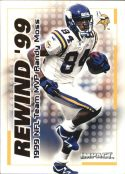RANDY MOSS 2000 Fleer IMPACT REWIND 99 #17 Football Card