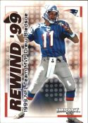 DREW BLEDSOE 2000 Fleer IMPACT REWIND 99 #18 Football Card