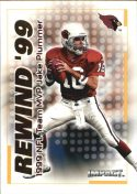 JAKE PLUMMER 2000 Fleer IMPACT REWIND 99 #1 Football Card