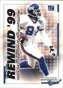 Amani Toomer 2000 Fleer IMPACT REWIND 99 #20 Football Card