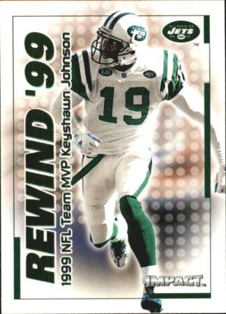 Keyshawn Johnson 2000 Fleer IMPACT REWIND 99 #21 Football Card