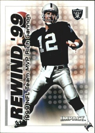 Rich Gannon 2000 Fleer IMPACT REWIND 99 #22 Football Card