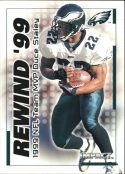 Duce Staley 2000 Fleer IMPACT REWIND 99 #23 Football Card