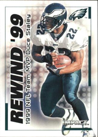 Duce Staley 2000 Fleer IMPACT REWIND 99 #23 Football Card