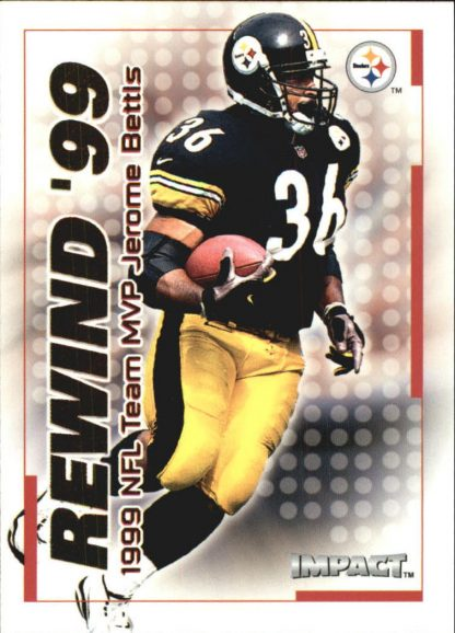 Jerome Bettis 2000 Fleer IMPACT REWIND 99 #24 Football Card