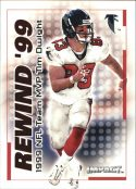 TIM DWIGHT 2000 Fleer IMPACT REWIND 99 #2 Football Card