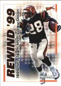 COREY DILLON 2000 Fleer IMPACT REWIND 99 #7 Football Card