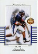 Clinton Portis 2002 Fleer Focus Jersey Edition Materialistic Jumbo Card #13