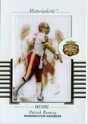 Patrick Ramsey 2002 Fleer Focus Jersey Edition Materialistic Jumbo Card #15