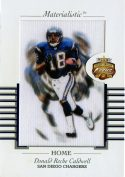 Donald Reche Caldwell 2002 Fleer Focus Jersey Edition Materialistic Jumbo Card #9