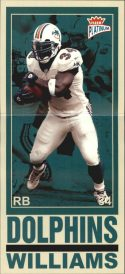 RICKY WILLIAMS 2003 FLEER PLATINUM BIG SIGNS #3 Football Card