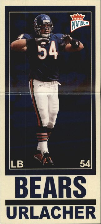 BRIAN URLACHER 2003 FLEER PLATINUM BIG SIGNS #4 Football Card