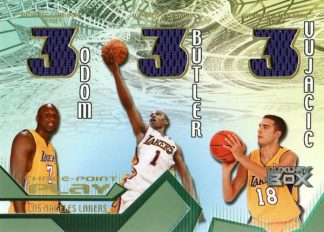 Odom Butler Vujacic 2004 05 Topps Luxury Box Three Point Play Worn Jersey #TPP-08V /30