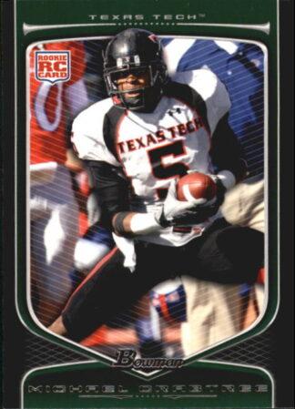 Michael Crabtree 2009 Bowman Draft #114 Rookie Football Card