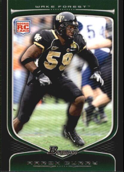 Aaron Curry 2009 Bowman Draft #117 Rookie Football Card