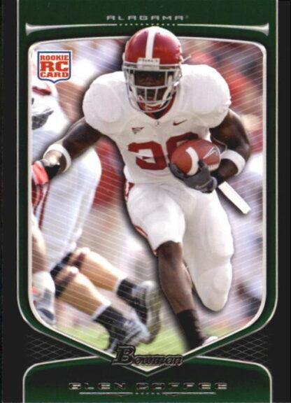 Glen Coffee 2009 Bowman Draft #122 Rookie Football Card