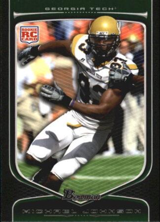 Michael Johnson 2009 Bowman Draft #126 Rookie Football Card