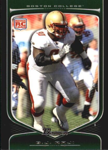 B.J. Raji 2009 Bowman Draft #128 Rookie Football Card