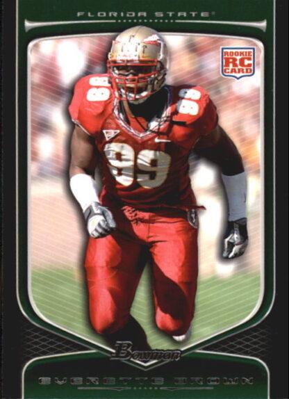 Everette Brown 2009 Bowman Draft #153 Rookie Football Card
