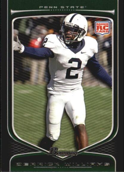 Derrick Williams 2009 Bowman Draft #164 Rookie Football Card