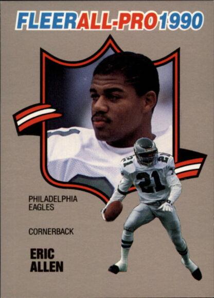 Eric Allen 1990 FLEER ALL PRO #20 Football Card