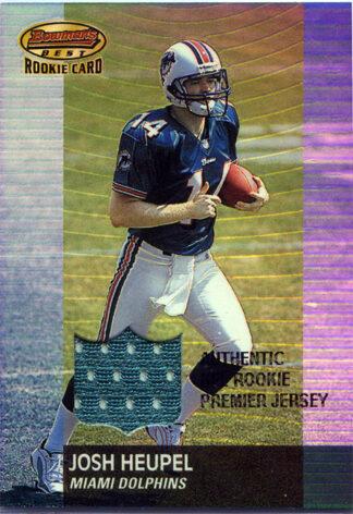 Josh Heupel 2001 Bowman's Best Football Card #105 Rookie Jersey /999