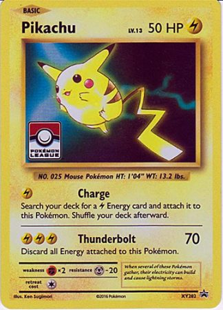Pikachu xy202 Holo Pokemon League Black Star Promo