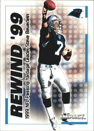 Steve Beuerlein 2000 Fleer IMPACT REWIND 99 #39 Football Card