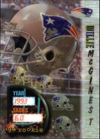 Willie McGinest 1994 Sportflics #160 Rookie Card