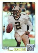 Aaron Brooks 2001 Topps Chrome Refractors Football Card #198 /999
