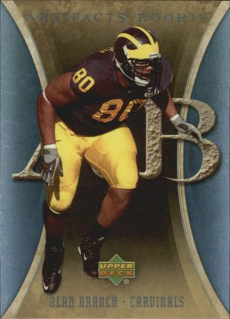 Alan Branch 2007 Artifacts Rookie #153 Football Card