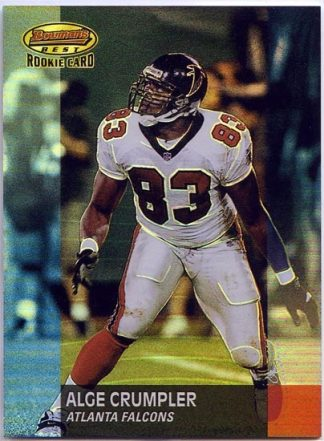Alge Crumpler 2001 Bowman's Best #162 /1499 Rookie Card