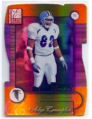 Alge Crumpler 2001 Donruss Elite Status Die-Cut #158 /82 Rookie Card