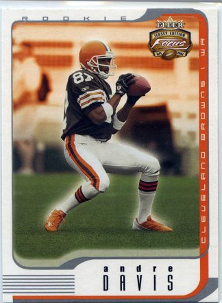Andre Davis 2002 Fleer Focus #148 Rookie Football Card /1850