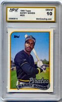 Barry Bonds 1989 Topps #620 Baseball Card Gem Mint Graded 10